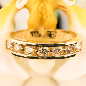 Channel-Set-Diamond-Ring